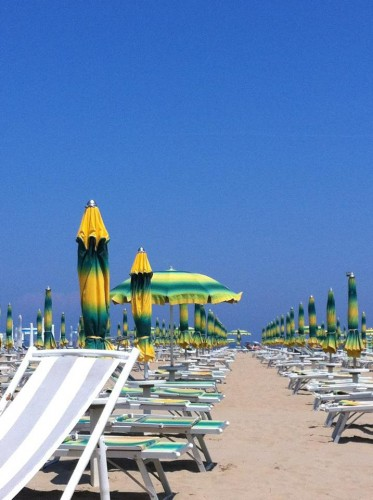 July 2012: Rimini offered a week of blue skies, blue water and beautiful sunshine.