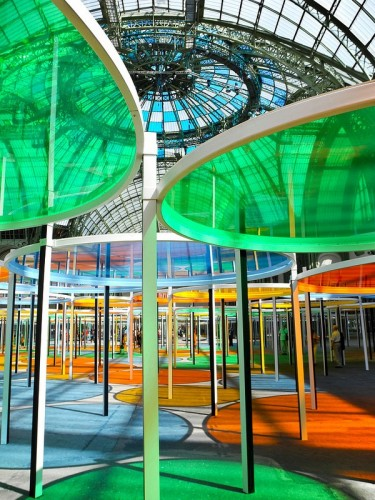 June 2012: From Bologna to Paris for business and a visit to the Grand Palais where I discovered the happiest and most colourful art installation I have ever experienced. What joy courtesy of artist Daniel Van Buren.