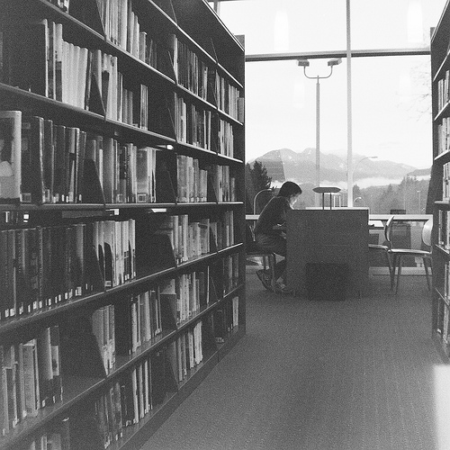My local Burnaby library, where I spent very many hours working to launch my business, preparing for my trip to Europe and enjoying the incredible north shore views. This one taken with my beloved Brownie Hawkeye.