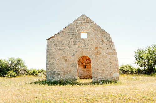 Back to my home in Bari, where a friendly photographer friend took me to shoot this church near Conversano, Puglia.