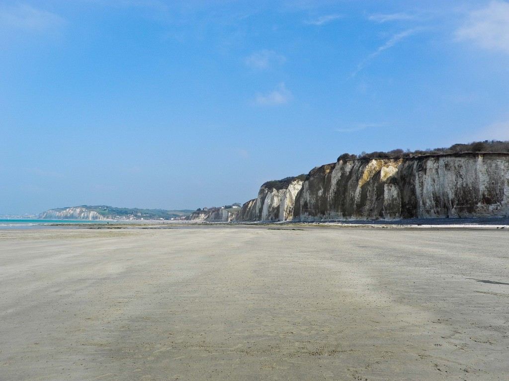 beaches and cliffs of normandy