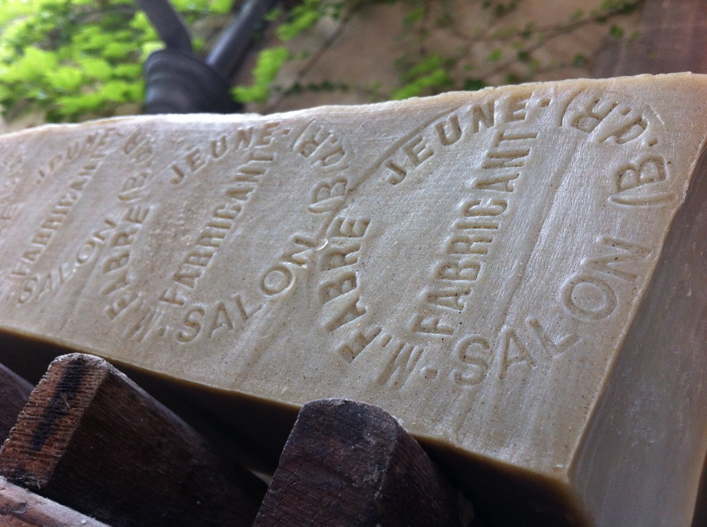 hand-stamped soap