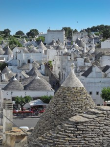 Alberobello, with it's unique traditional trullo housing, is a protected UNESCO World Heritage site.